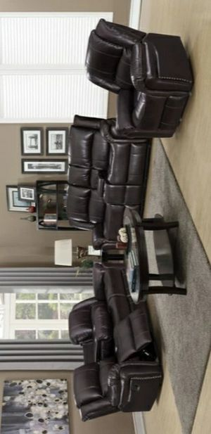 Columbus Day Special- [SPECIAL] Monrose Brown 3-Piece Reclining Living Room Set for Sale in Houston, TX