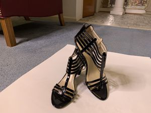 Woman summer black patent leather shoe for Sale in Fort Washington, MD