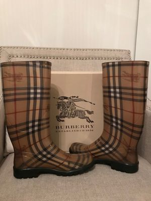 Authentic Burberry Haymarket Rain Boots for Sale in New York, NY