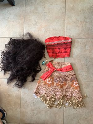 Moana costume size 4-6x for Sale in Rancho Cucamonga, CA