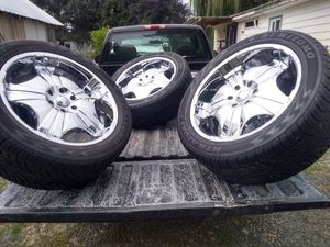22 inch wheels and tires. Ford maybe Dodge for Sale in Raymond, WA