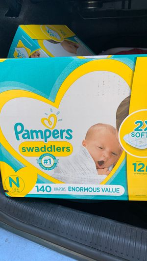 Brand new on opened newborn Pampers 140 count for Sale in Chicopee, MA