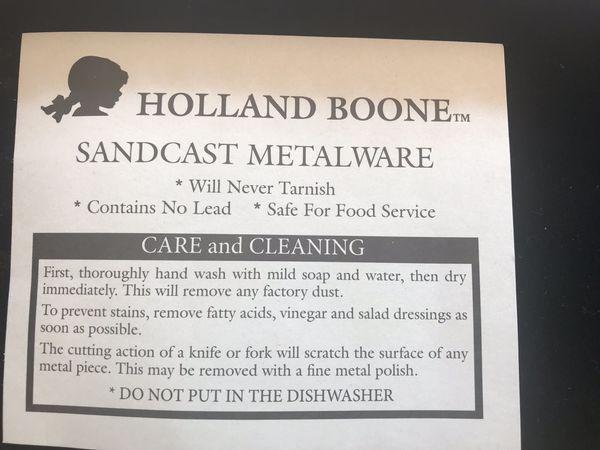 Holland Boone Sandcast Metalware