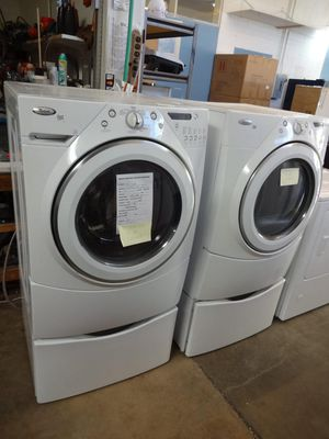 Whirlpool Duet Washer and Dryer with Pedestals $650-$750 for Sale in West Covina, CA