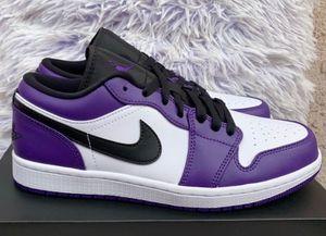 Jordan 1 low court purple size 8 for Sale in La Puente, CA