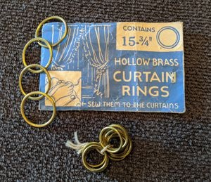 Hollow Brass Curtain Rings for Sale in East Wenatchee, WA