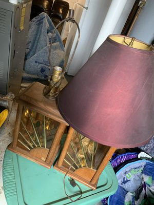 Vintage solid wood lamps for Sale in Lincoln, NE