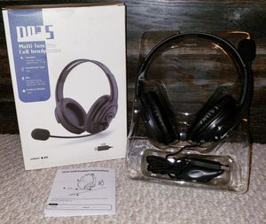 USB Wired Computer Headset with Microphone Noise Cancelling, Lightweight for Sale in Largo, FL
