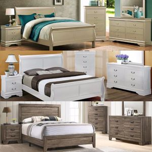 39$down payment 👏 delivery 🚛 Bedroom set 4 piece queen size (bed,nightstand,Dresser,mirror for Sale in Houston, TX