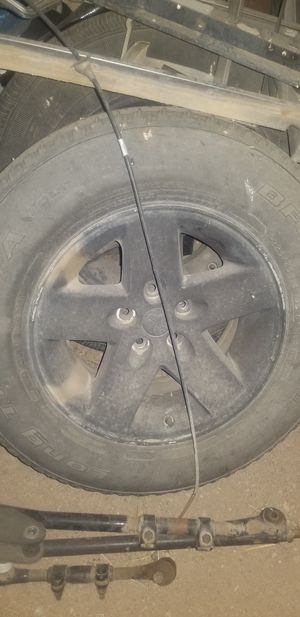 4 Jeep rims and tires stock for Sale in Hesperia, CA