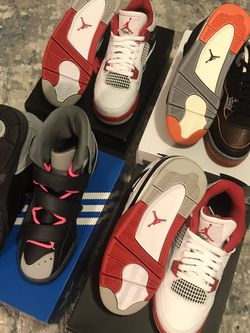 Size 7 Sneakers - Jordan 4's and Adidas Kid Cudi for Sale in Alexandria,  VA