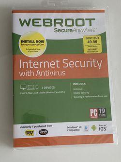 Webroot Internet Security for Sale in Sandy Springs,  GA