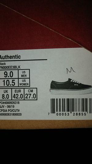 Brand New Vans shoes, Black M9/W10.5 for Sale in Desert Hot Springs, CA