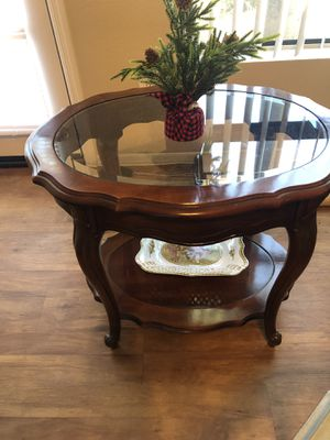 Glass and wood end table for Sale in Paradise Valley, AZ
