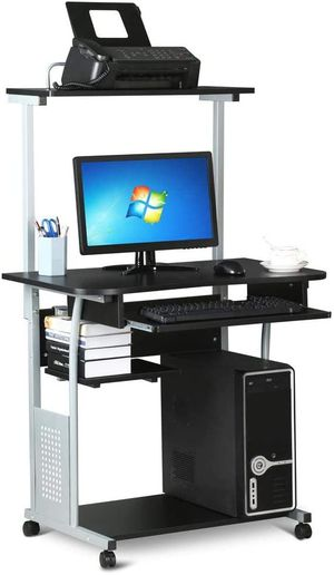 2 Tier Computer Desk with Printer Shelf and Keyboard Tray Home Office Workstation for Sale in Los Angeles, CA