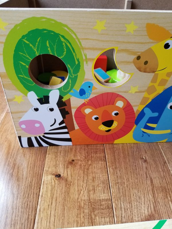 Activity Wood Box for Toddlers