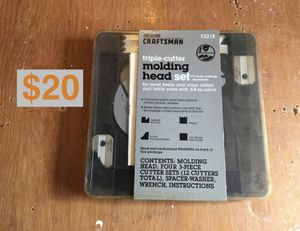 SEARS CRAFTSMAN Triple Cutter Molding Head Set 93218 IN BOX Wood Workers Make an Offer for Sale in Rolling Meadows, IL