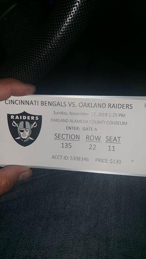 Raiders vs bengals for Sale in Concord, CA