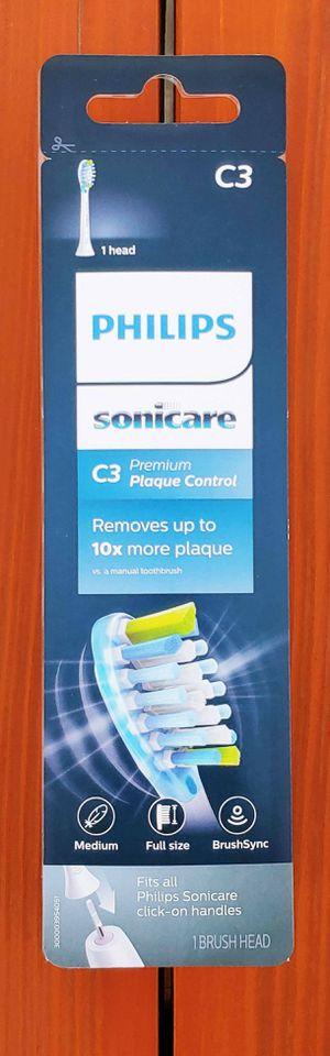 BRAND NEW Genuine Philips Sonicare C3 Premium Plaque Control Replacement Brush Head HX9041/30   1 Pack Brush head   Medium   Full Size   BrushSync for Sale in Ontario, CA