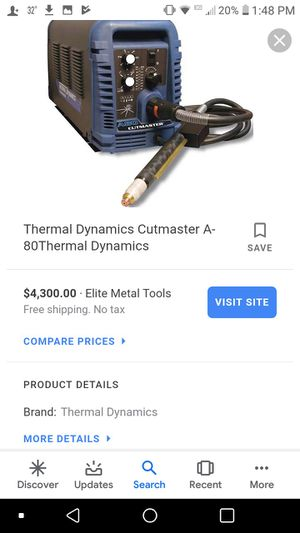 Thermal dynamics plasma cutter lightly used works great comes with all hook ups for Sale in Verona, VA