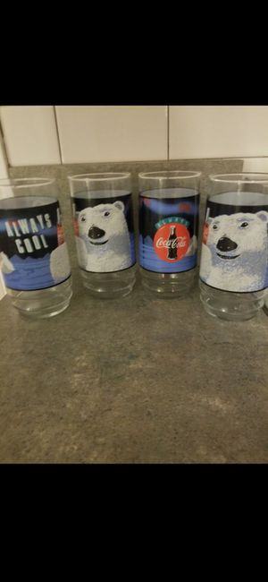 Coca Cola Always Cool Vintage Glasses, Set of 4 for Sale in Bardonia, NY