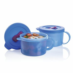 TUPPERWARE-CRYSTALWAVE PLUS-SOUP MUGS/CONTAINERS-SET OF 2-NEW!! for Sale in Springfield, OR