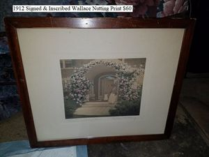 1912 Signed & Inscribed Wallace Nutting Print $60 for Sale in Dresden, OH