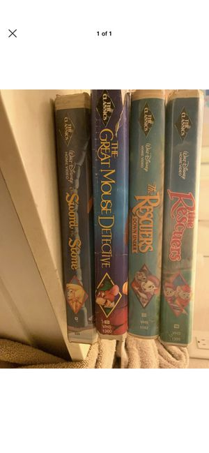 Disney black diamond edition vhs movies for Sale in Hesperia, CA