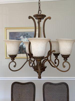 Chandelier with 6 light fixtures for Sale in Herndon, VA
