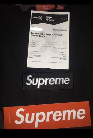 Supreme crewneck Black box logo for Sale in Rancho Cucamonga, CA