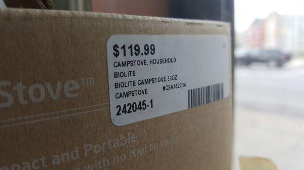 BioLite CampStove 1 Wood Burning and USB Charging Camping Stove