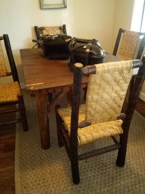 Handmade kitchen table and chairs for Sale in Issaquah, WA
