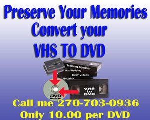 DVD conversion for Sale in Benton, KY