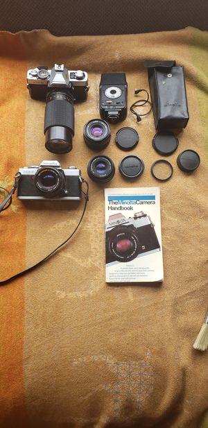 2 MINOLTA XG-9 35mm SLR Film Cameras for Sale in Seattle, WA