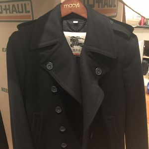 Burberry London Double Breasted Military Wool Coat for Sale in New York, NY