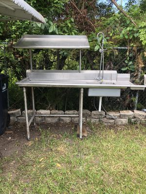 Stainless steel wash sink for Sale in North Miami Beach, FL