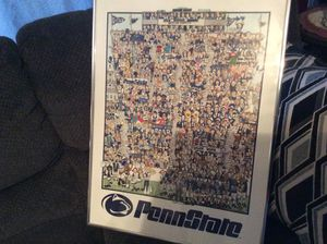 "Vintage Penn State Football Poster/Print. 18"" x 24"". John Holladay for Sale in Ashley, OH"