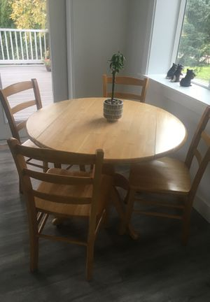Wood table and four chairs for Sale in Gresham, OR