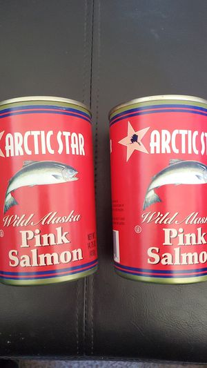 Arctic star Wild Alaska pink salmon to 14.75 Oz cans best by August 2024 both for $4 for Sale in San Diego, CA