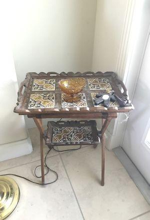 Tile table breakfast tray for Sale in Eustis, FL
