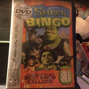 Shrek Bingo Dvd Game W/Dry Erase Markers for Sale in Minerva, OH
