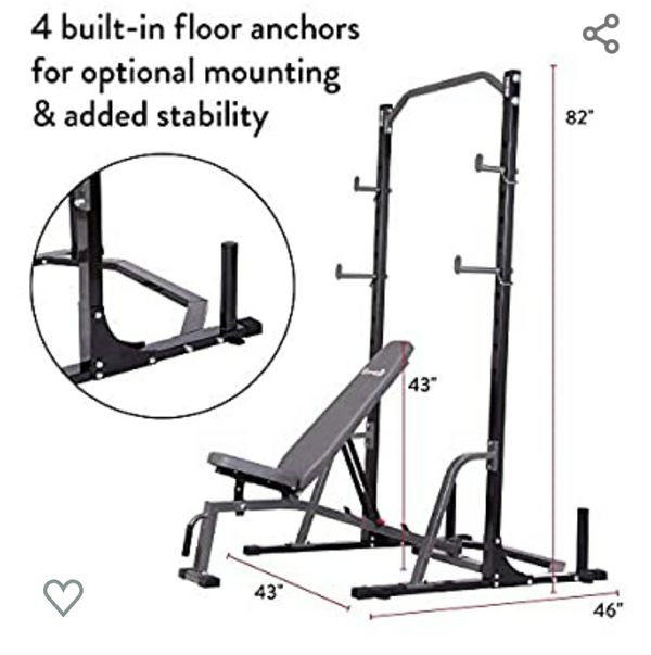 Brand new squat rack and bench combo 650 lb cap