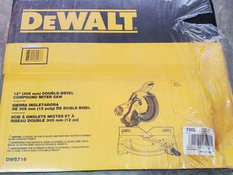 Dewalt DWS716 15 Amp Corded 12 in. Compound Double Bevel Miter Saw for Sale in Kent,  WA