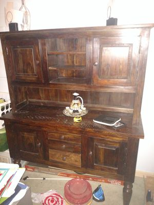 Wood brown hutch for Sale in Richmond, VA