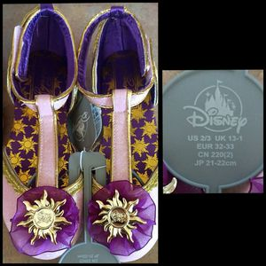Disney Parks Girls 2/3 Rapunzel dress up shoes for Sale in Gulfport, MS