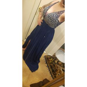 Navy gown for Sale in Evesham Township, NJ