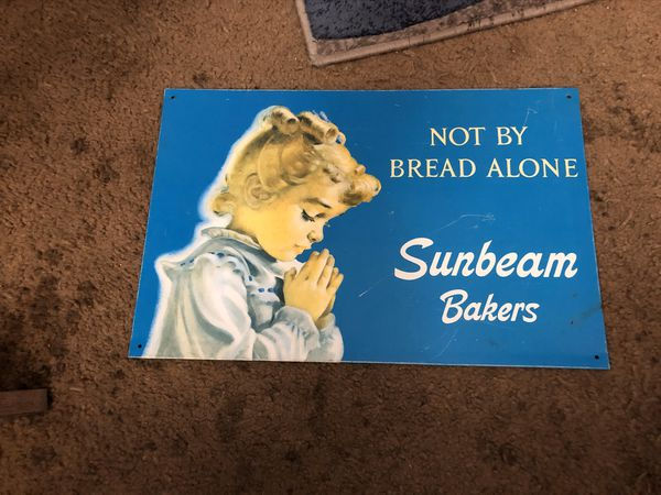 Antique Metal Signs - Sunbeam Bakers