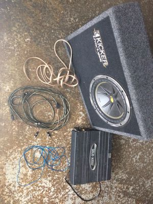 Car audio subwoofer and amplifier - will not disappoint for Sale in Atlanta, GA