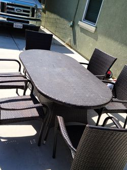Wicker Table And 6 Chair Set for Sale in Manteca,  CA