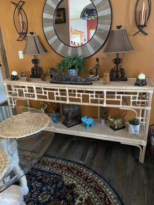 Bamboo/Rattan sofa table for Sale in Roanoke, VA